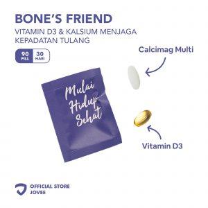 Bone's Friend - Vitamin D3 & Kalsium menjaga kepadatan tulang