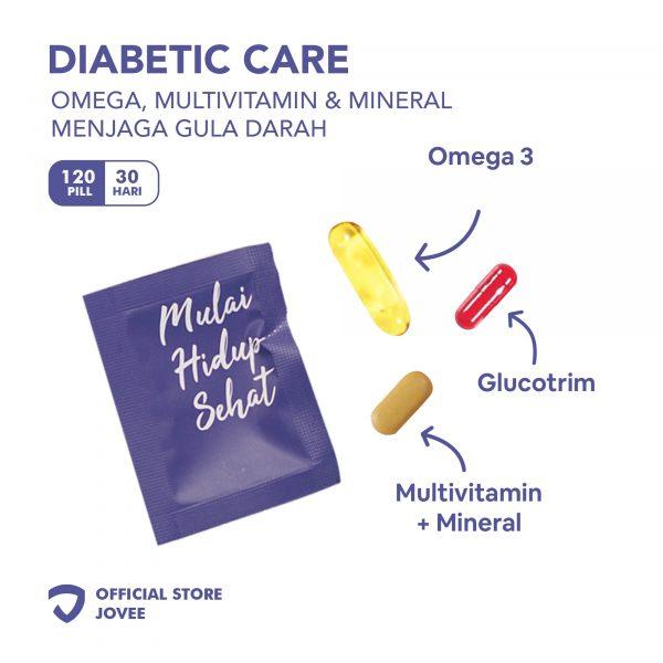 Diabetic Care - Omega, Mulltivitamin & Mineral menjaga gula darah