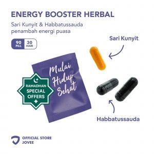 Energy Booster Herbal - Sari Kunyit & Habbatussauda untuk Energi Puasa