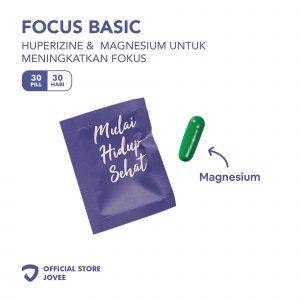 Focus Basic - Huperizine & Magnesium untuk meningkatkan fokus