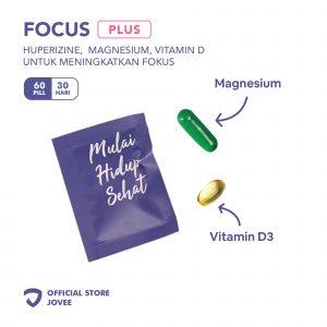 Focus Plus - Huperizine, Magnesium, Vitamin D untuk meningkatkan fokus