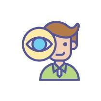 ikon mata, ikon manusia